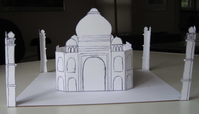 Easy Taj Mahal Printable craft for kids  Easier than the 3-D models