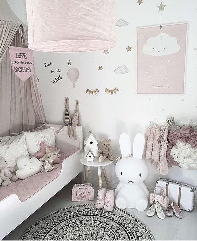 Dusky Pink Nursery With A Minimalist Vibe, Cloud Cushions And Scandi Decor  Credit: @