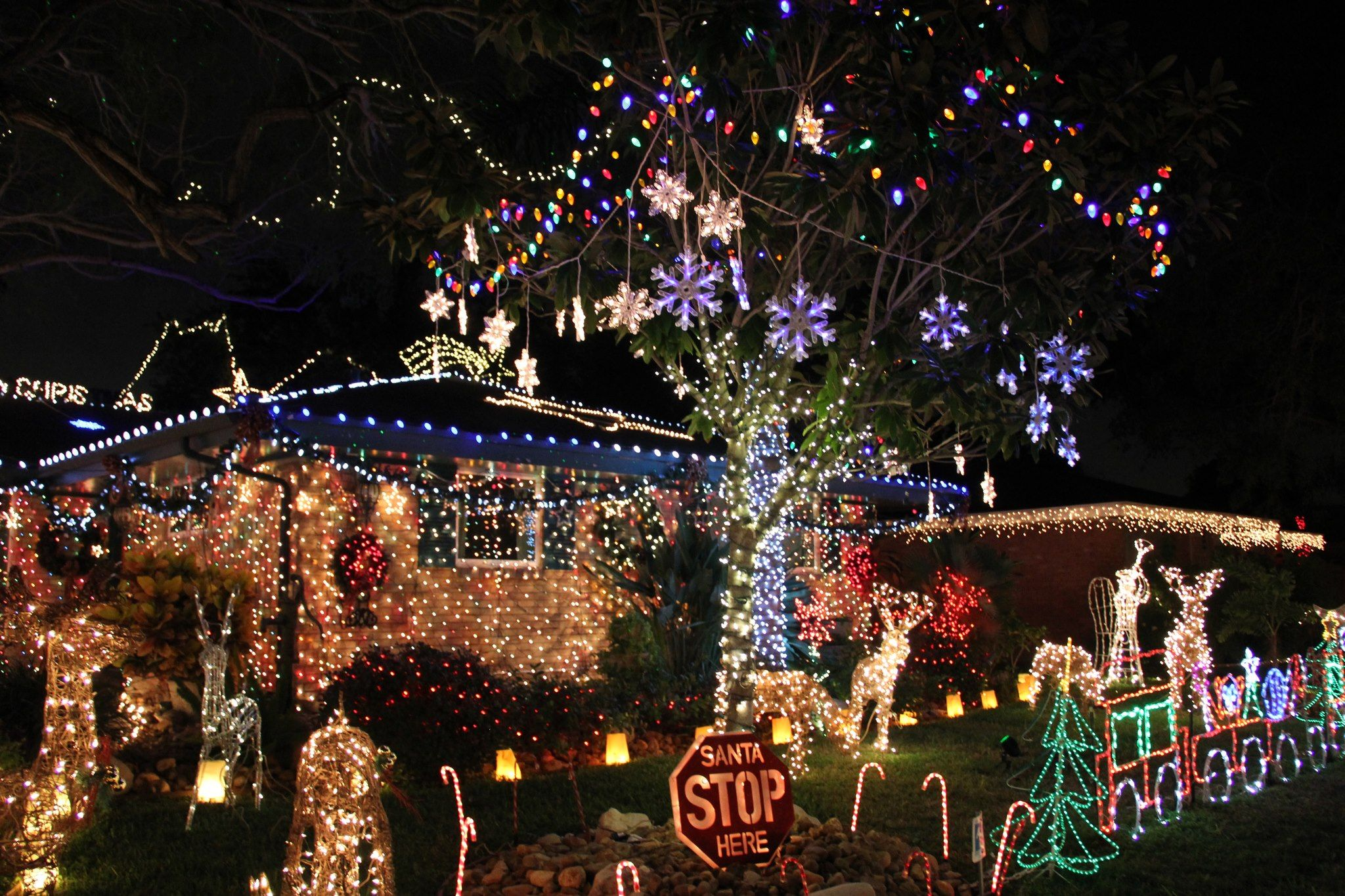 Beste Led Weihnachtsbeleuchtung.Candy Cane Lane Corpus Christi At Christmas Texas Best Christmas