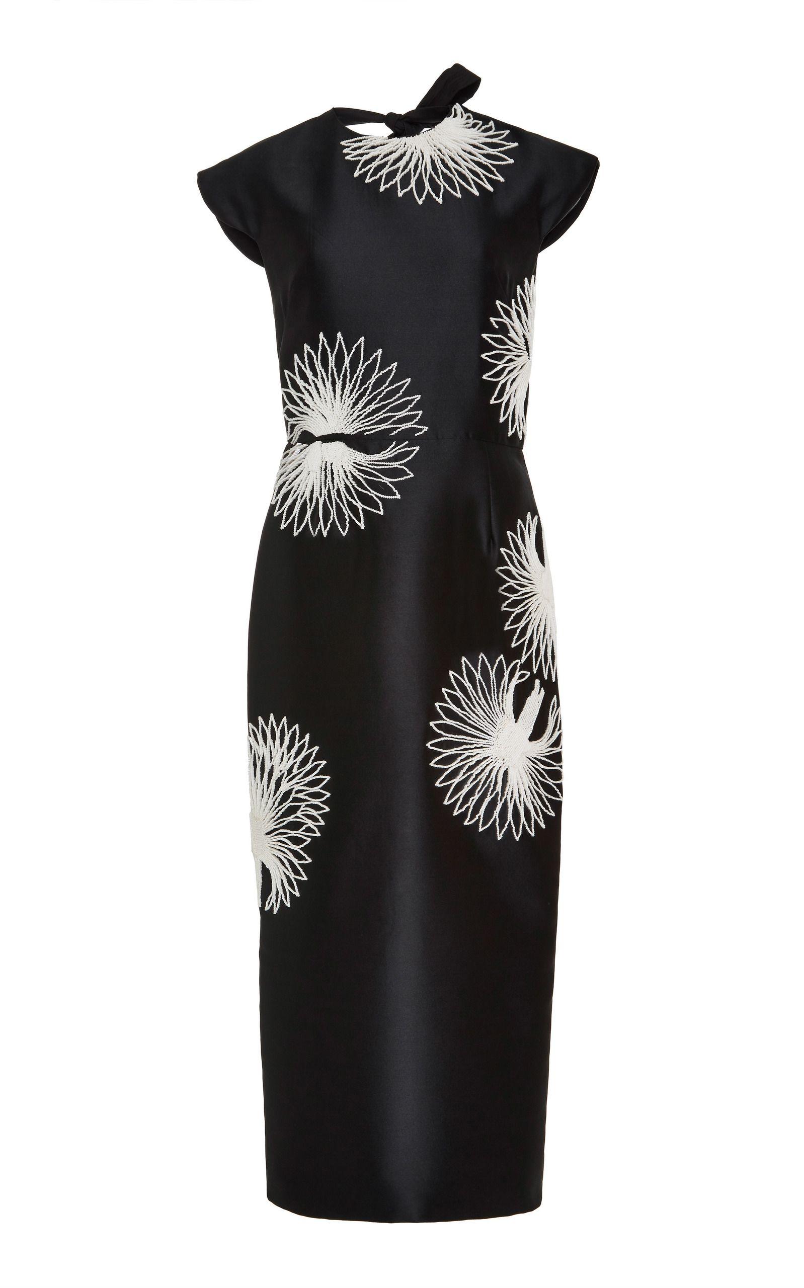 52cb51d7b2c Bugle Bead Embroidered Midi Dress by BIBHU MOHAPATRA for Preorder on Moda  Operandi