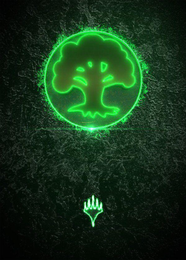 Magic The Gathering Emblems Green Displate Artwork By Artist Jose Barrera Part Of A 5 Piece S Magic The Gathering Cards Magic The Gathering Mtg Altered Art