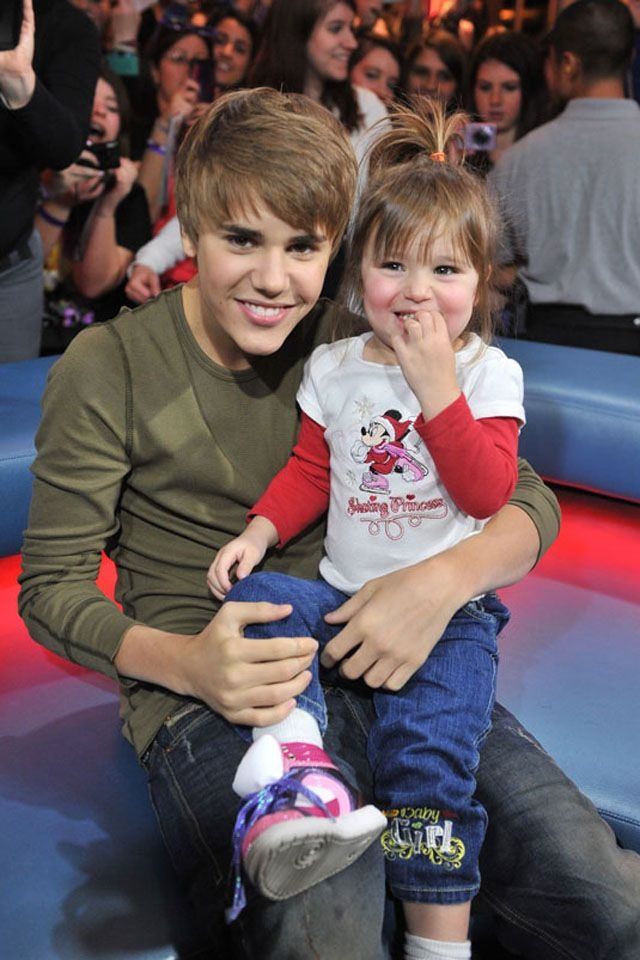 Aww! Justin Bieber Spends Day with Sister Jazmyn, 4 - Us