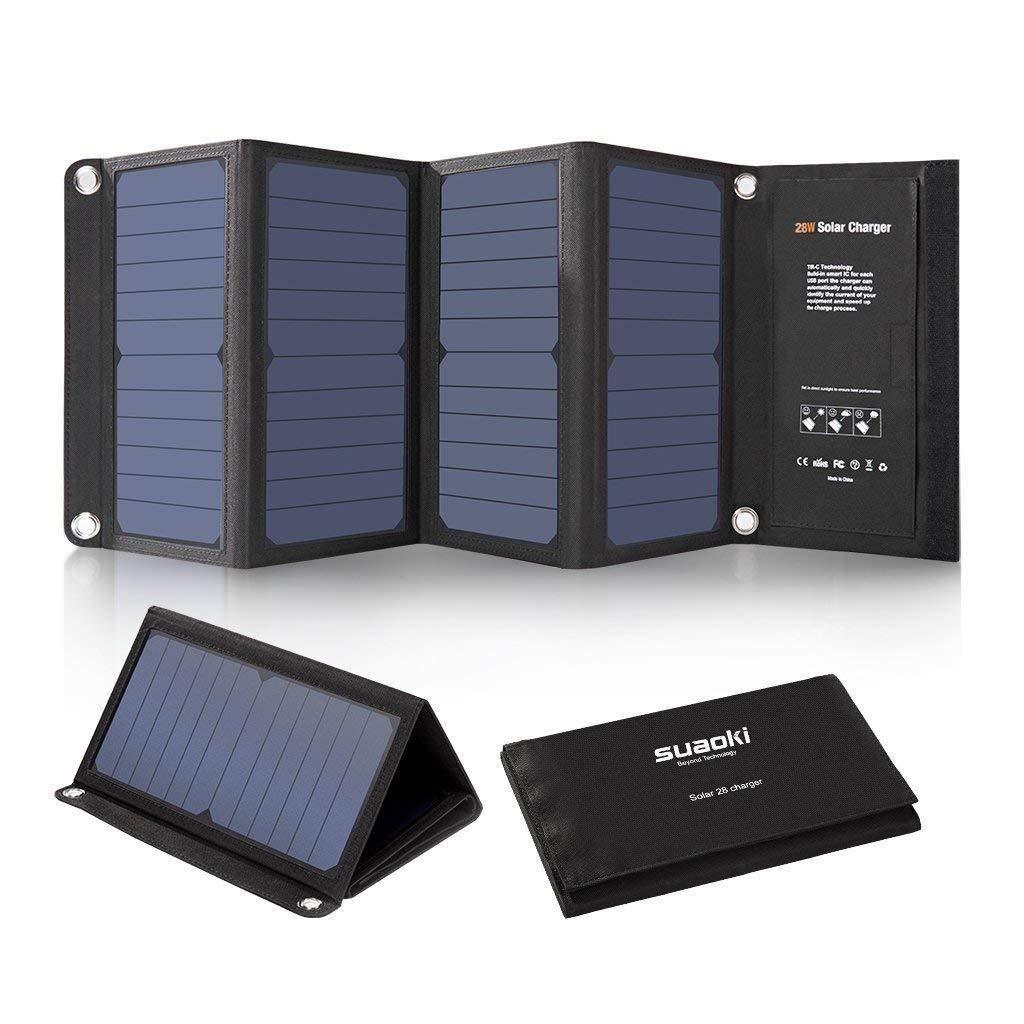 Foldable Portable Solar Charger 28w Solar Panel Charger Solar Charger Portable