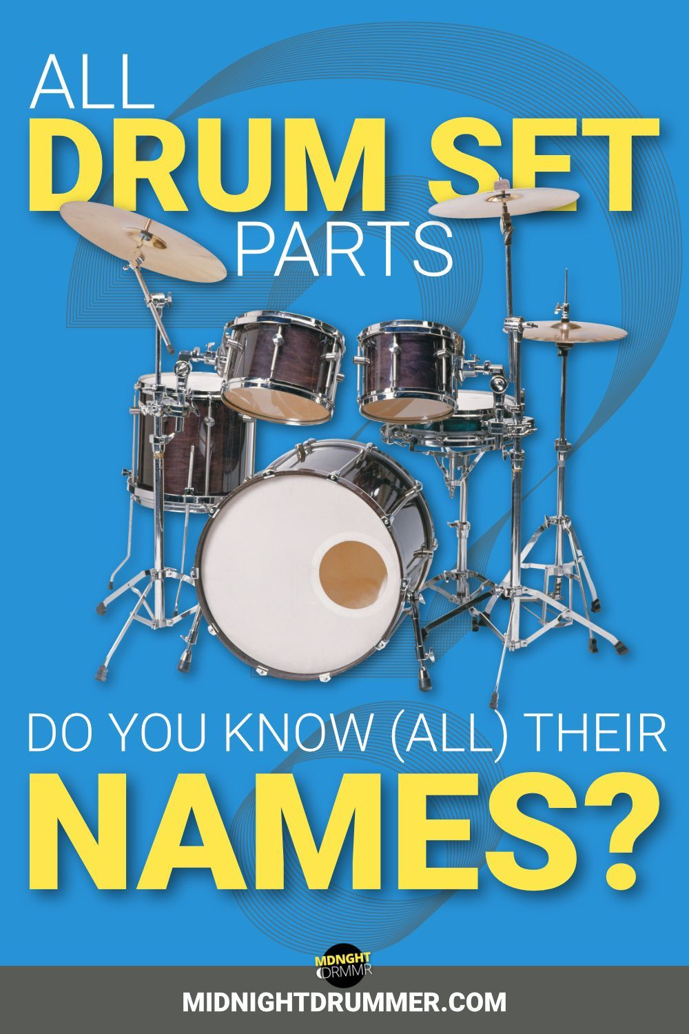 Do You Know All Drum Set Parts And Their Names In 2021 Drum Set Parts How To Play Drums Drums