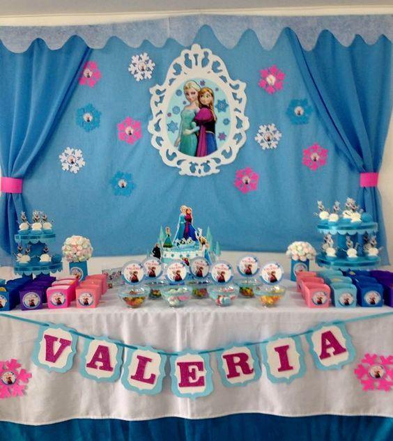 Fiesta tem tica de frozen decoraci n de frozen para - Manualidades decoracion cumpleanos ...