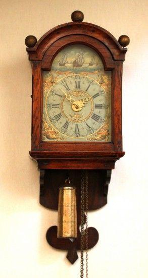 1800 S A Dutch Miniature Wall Clock So Called
