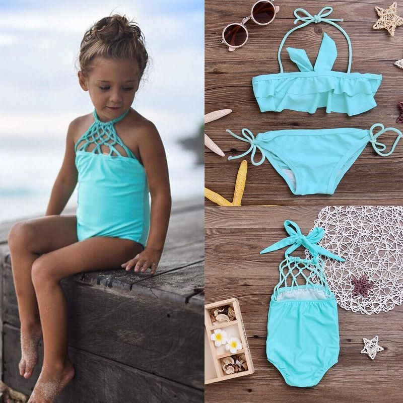 USA Toddler Baby Girl Tankini Bikini Swimwear Swimsuit Bathing Suit Beachwear