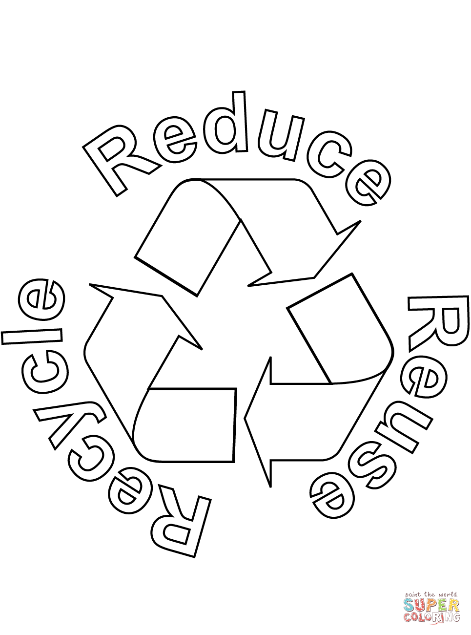 Battery Recycling Symbol Coloring Book Kids Coloring Free