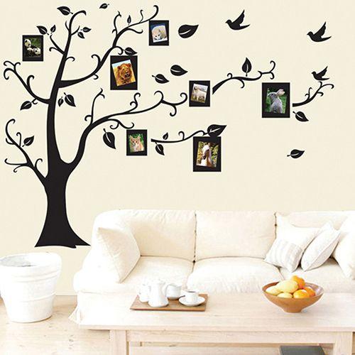 Creative Family Photo Frame Tree Wall Sticker Removable Room Decor