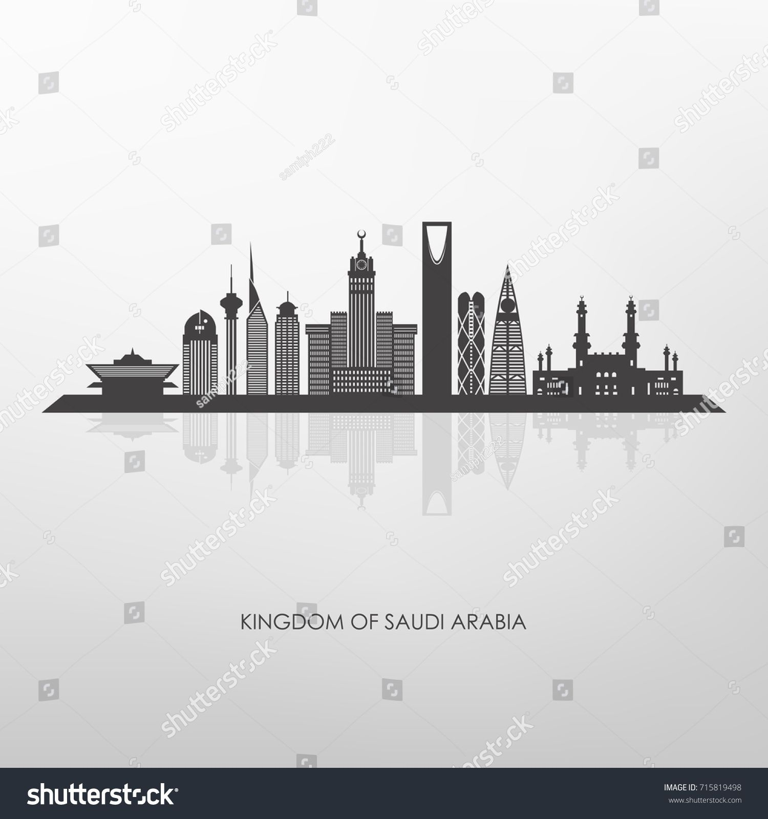 Kingdom Of Saudi Arabia Skyline Silhouette Riyadh Mecca And Jeddah Buildings Sponsored Spon Arabia Skyline Kin Skyline Silhouette Skyline Saudi Arabia