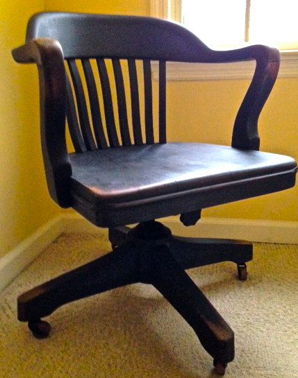 Awesome 1940S Vintage Round Back Desk Chair In New By Short Links Chair Design For Home Short Linksinfo