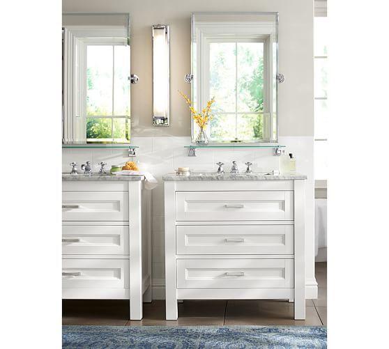 Kensington Pivot Rectangular Mirror Single Sink Glass