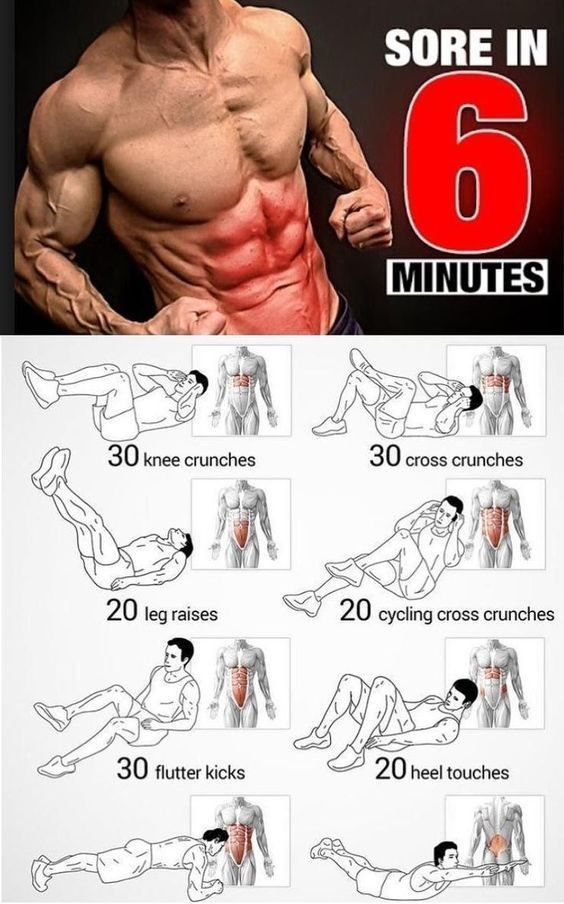 Get your abs sore in 6 minutes with these exercises. If you can't do every one of them, thats fine,...