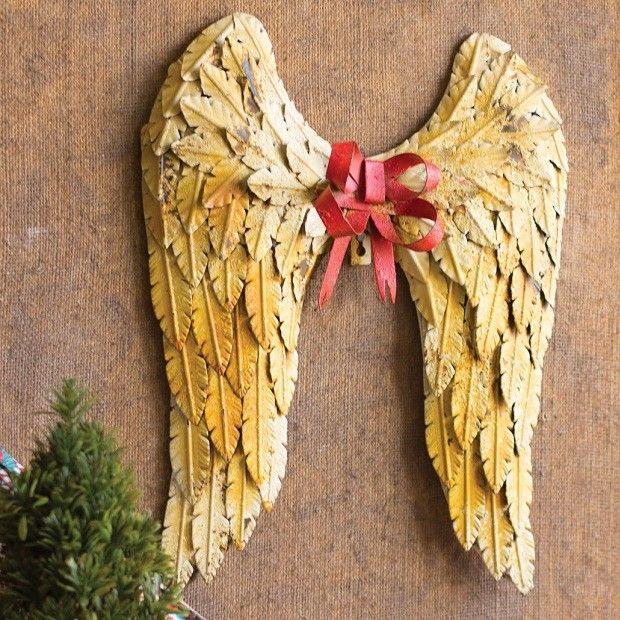 Enchanting Angel Wings Heart Wall Decor Gift - Wall Art Design ...