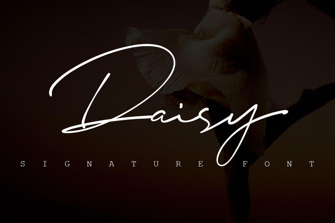 Download Daisy Signature font - Free Fonts, Script & handwritten ...