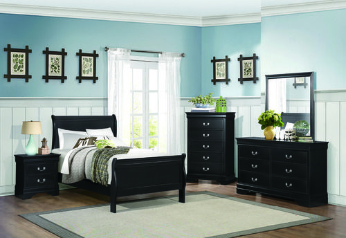 4 Pc Homelegance Mayville Collection Black Twin Bedroom Set Cool Twin Bedroom Sets Inspiration