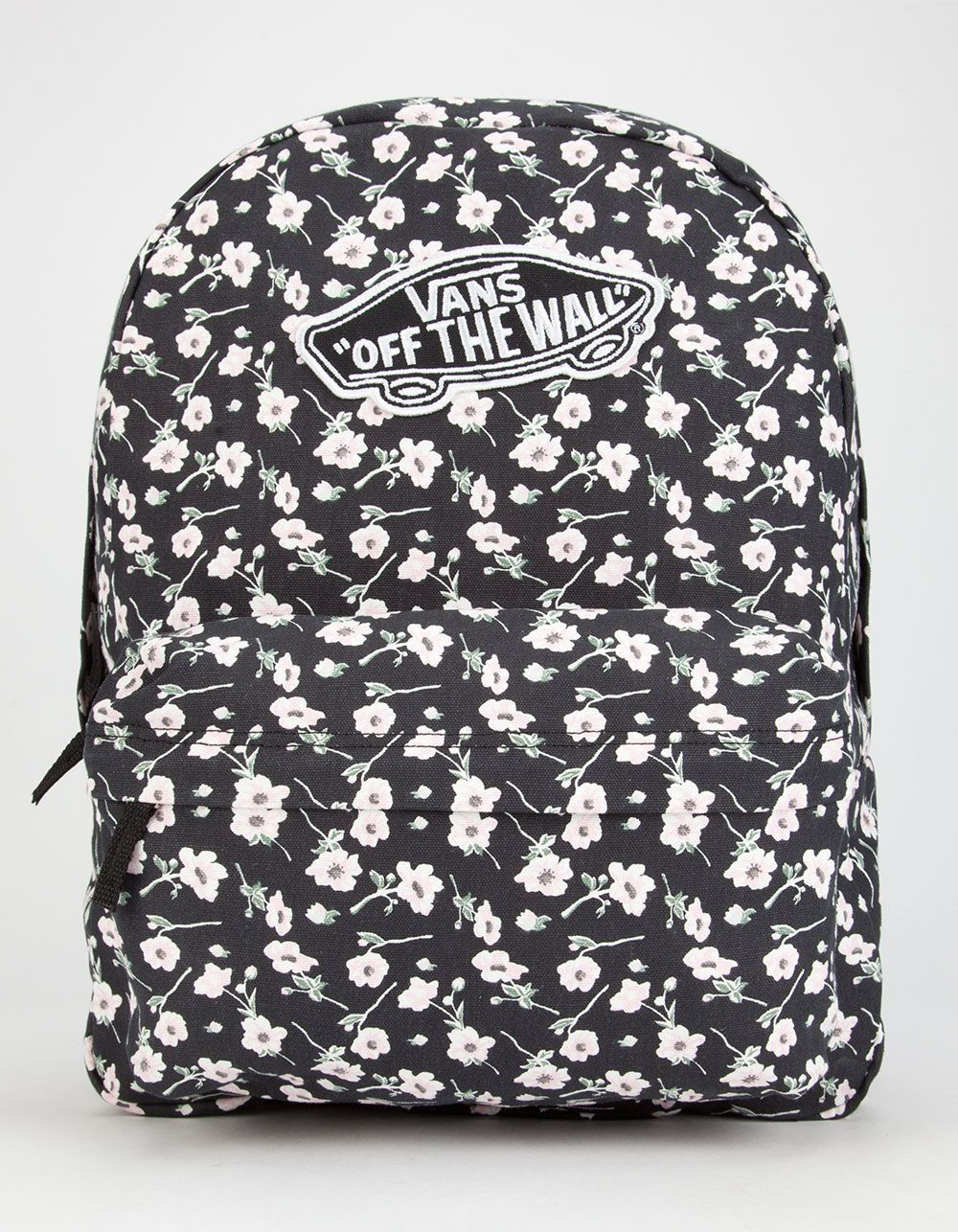 Vans Realm backpack. Allover floral print. Vans Off the Wall patch ...