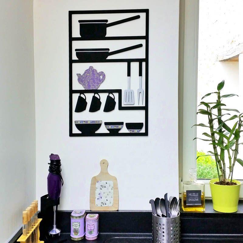 Déco provençale : tableau ustensiles et planchette en bois ...