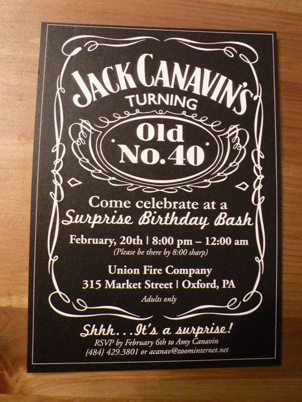 Jack Daniels Inspired 40th Birthday Party Aged To Perfection 40