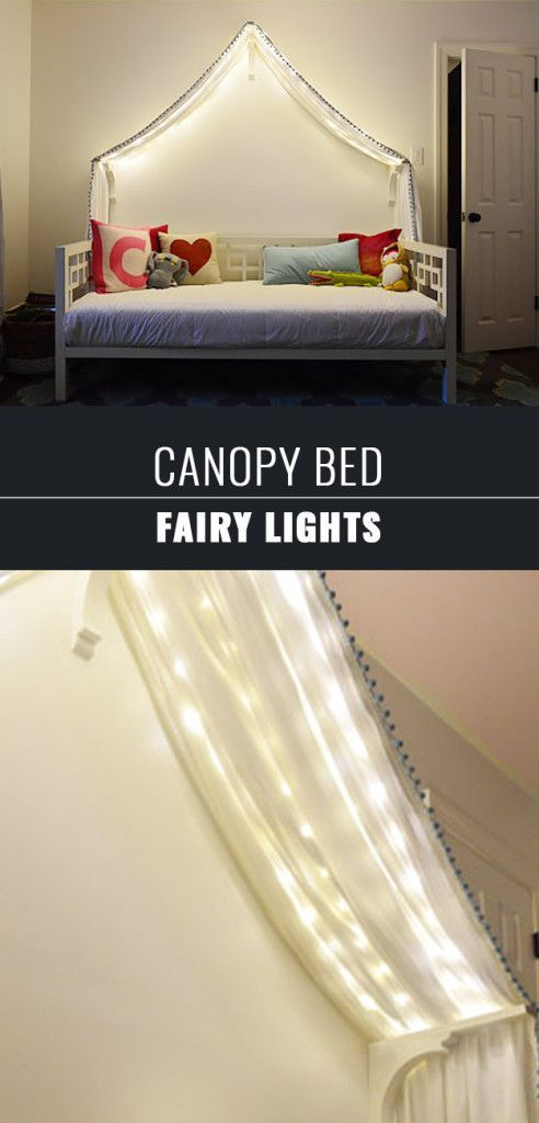 DIY Teen Room Decor Ideas For Girls | Canopy Bed Fairy Lights | Cool Bedroom  Decor