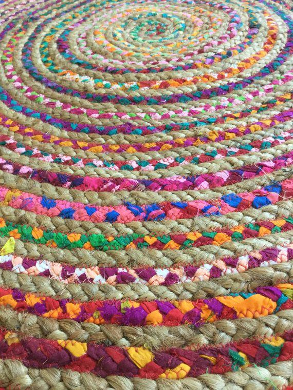 round rag rug boho chic hippie area rug vegan by yourgreateststory boho rug braided rag rugs on boho chic kitchen rugs id=70514