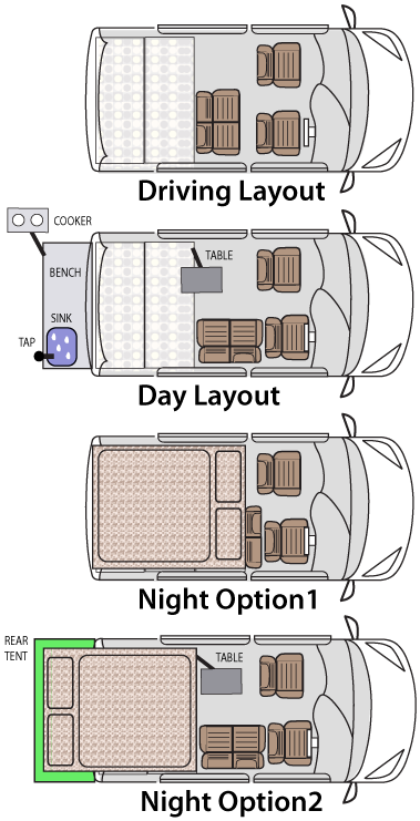 layout ideas   1 van