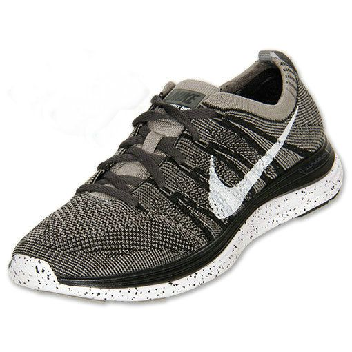 new styles f4b65 3e5e7 Young Big Boys Nike Flyknit Lunar 1+ Black White Light Charcoal