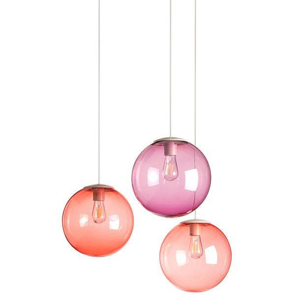 Fatboy Spheremaker Suspension Lamp Blush $360 ❤ liked on