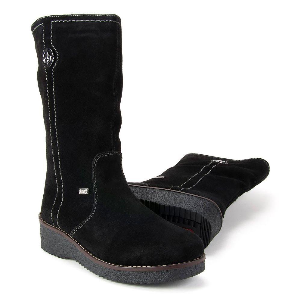 Kozaki Rieker Y4671 00 Czarne Kozaki Na Plaskim Obcasie Kozaki Buty Damskie Filippo Pl Boots Shoes Wedge Boot