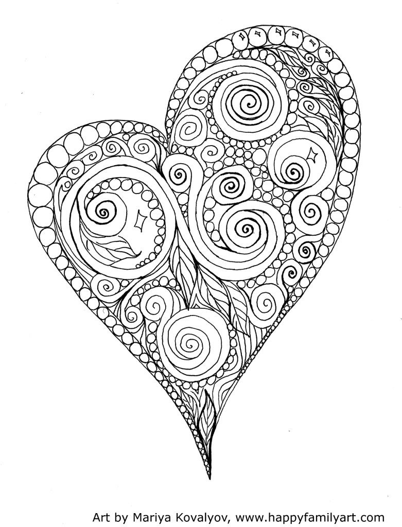 Valentines Day Holiday Coloring Pages | Valentine coloring ...