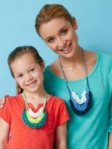 Finger Knitting Necklace | Yarn | Free Knitting Patterns | Crochet Patterns | Yarnspirations