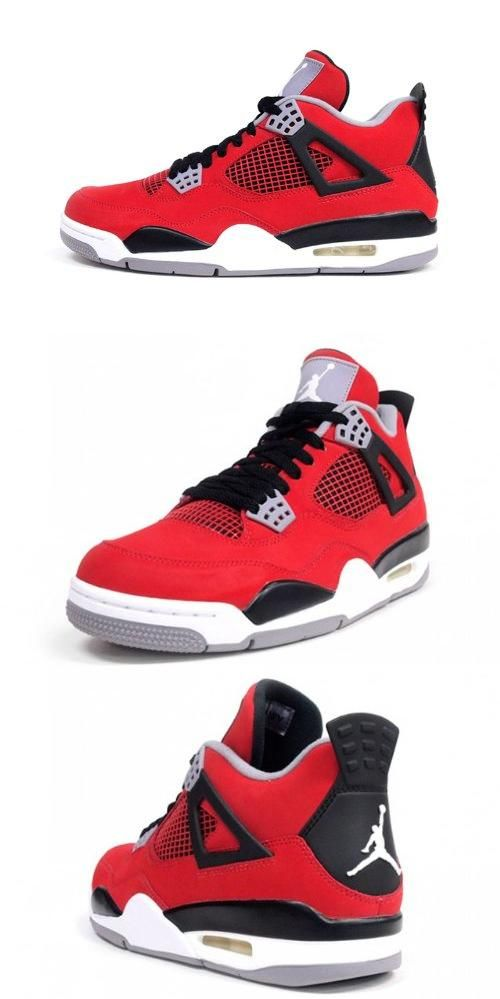 58a15590c1be Air Jordan 4 Retro Toro Bravo (Fire red White-Black-Cement) (14 ...