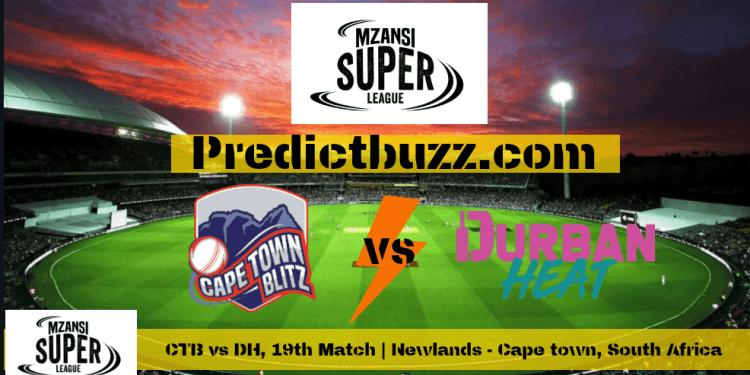 Cricket Betting Tips of Cape Town Blitz vs Durban Heat