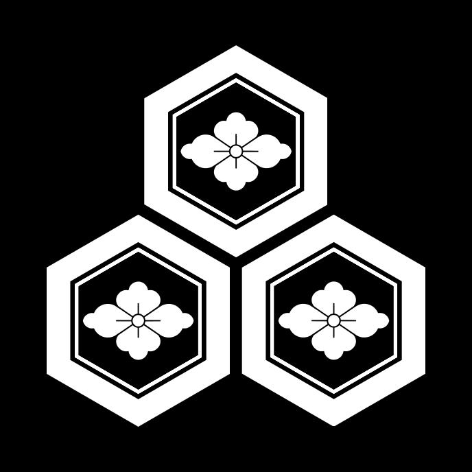 三つ盛亀甲に花菱 みつもりきっこうにはなびし Mitsumori Kikkou Ni