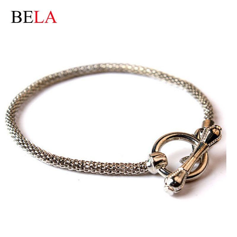 Wholesale Fashion Jewelry Snake Chain Fit Pandora Bracelet with Brand European Charm Bead Jewelry Free Shipping PS3060