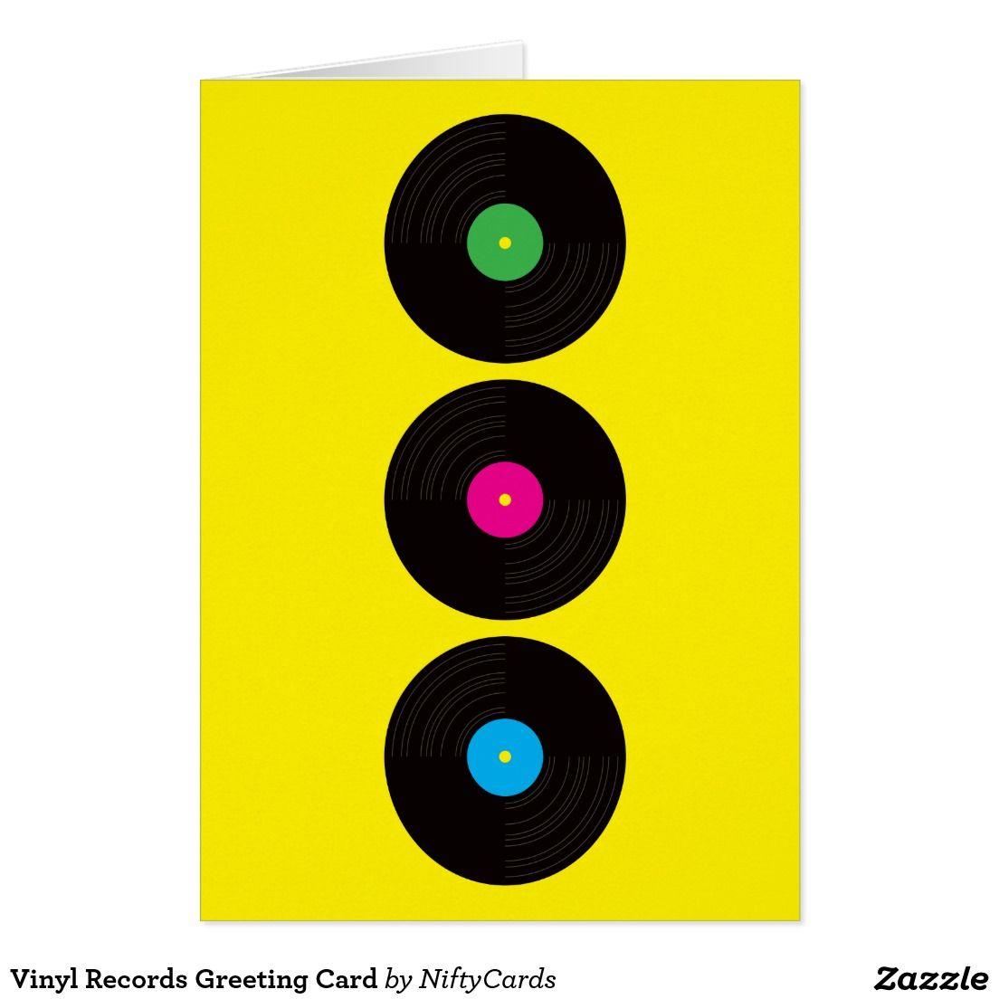 Vinyl Records Greeting Card Zazzle Co Uk Vinyl Records Greeting Cards Vinyl