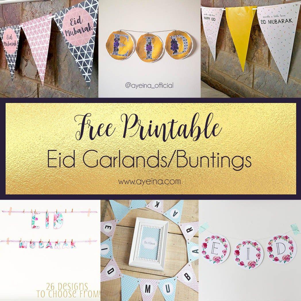 Ultimate List Of Free Eid Printables Updated 2021 Ayeina Eid Crafts Eid Gifts Diy Eid Decorations