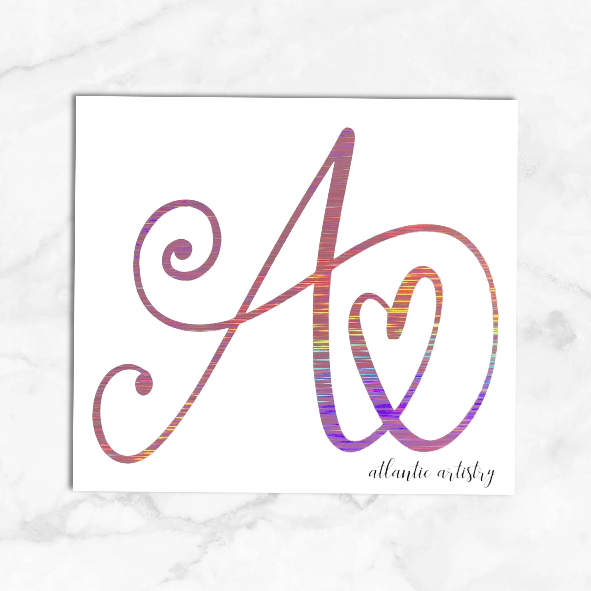 Holographic Heart Letter Decal Initial Sticker Single Letter Decal Holographic Yeti Sticker Decal For Tumbler Sticker For Water Bottle Monogram Decal Initials Sticker Initials Decal [ 2000 x 2000 Pixel ]