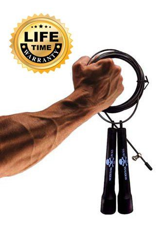 Boxing MMA Fitness Training Speed Adjustable Sold by FMS International Survival and Cross Jump Rope