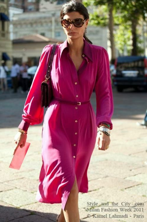 Giovanna in pink dress