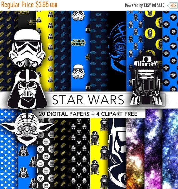 30 OFF SALE Star Wars digital paper by GraphicFarm on Etsy