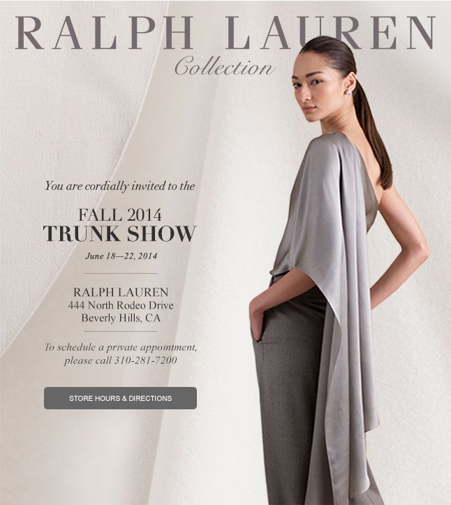 The Dallas Store Invites You To Our Fall 2014 Collection Trunk Show