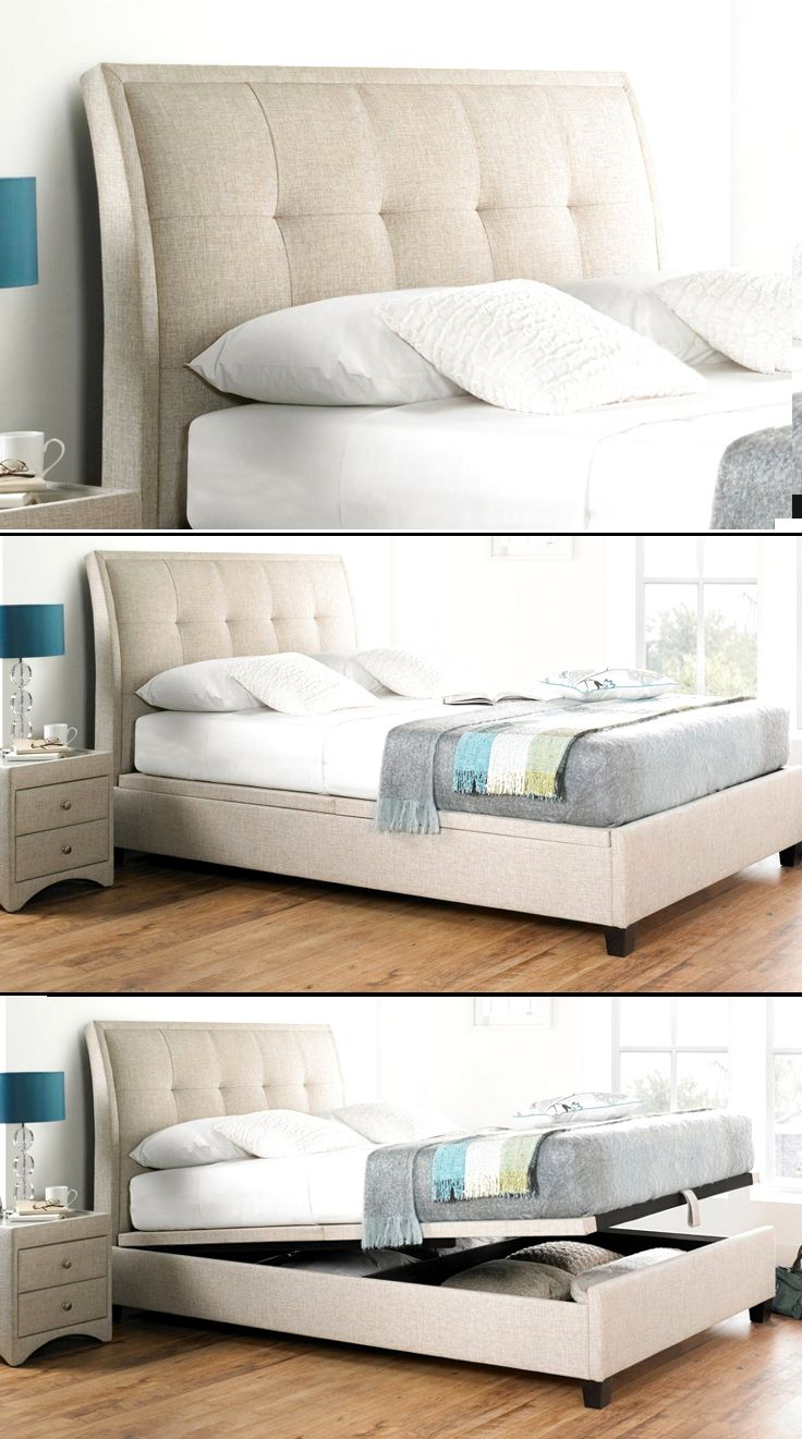 Accent Upholstered Gas lift Storage Bed also available in Slate in queen and King sizes & Accent Upholstered Gas lift Storage Bed also available in Slate in ...