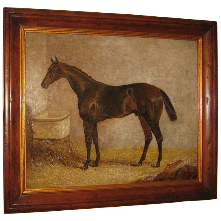 English oil horse painting