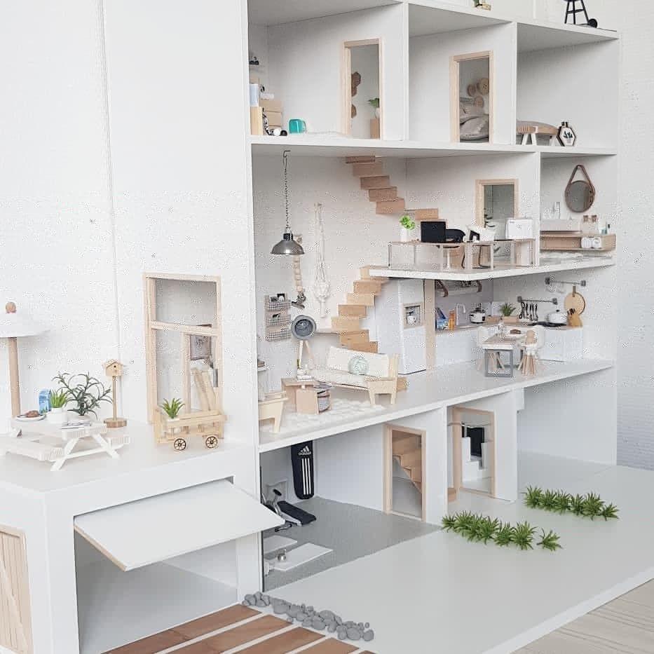 Modern Dollhouse Diy Model Home Doll House Plans Diy Barbie Furniture Diy Dollhouse