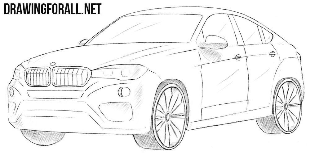 How To Draw A Bmw X6 Bmw X6 Truck Art Motorcycle Drawing