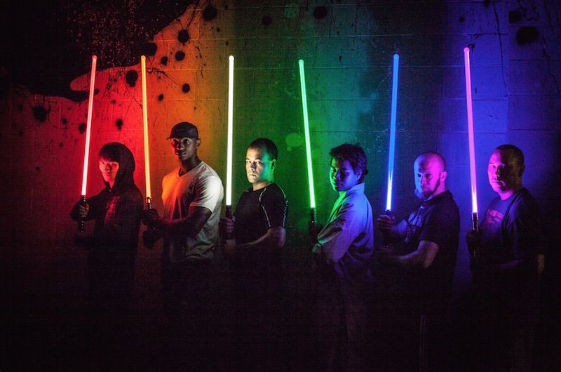 Young padawans learn to use the force in lightsaber fitness classes.