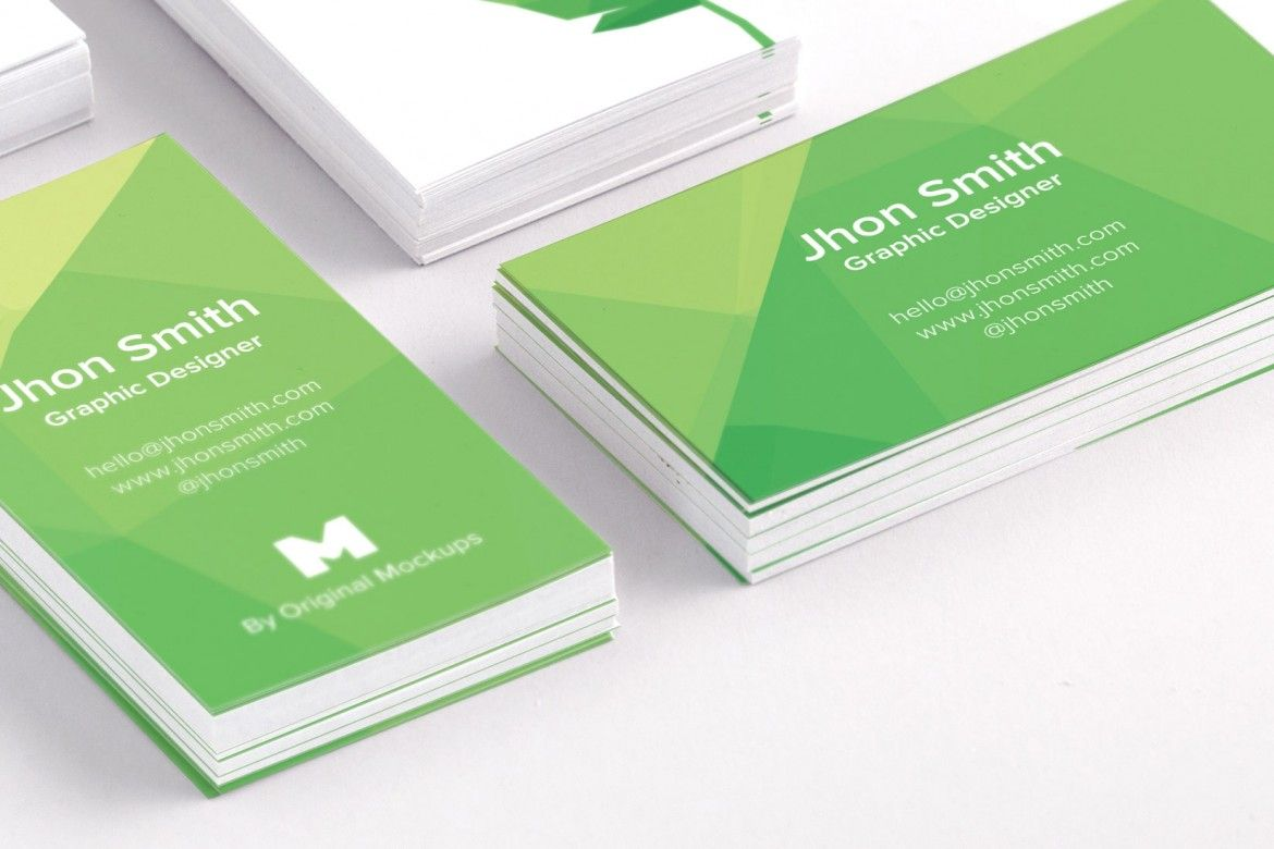 Elegant multiple stacked of free business cards psd mockup to ...