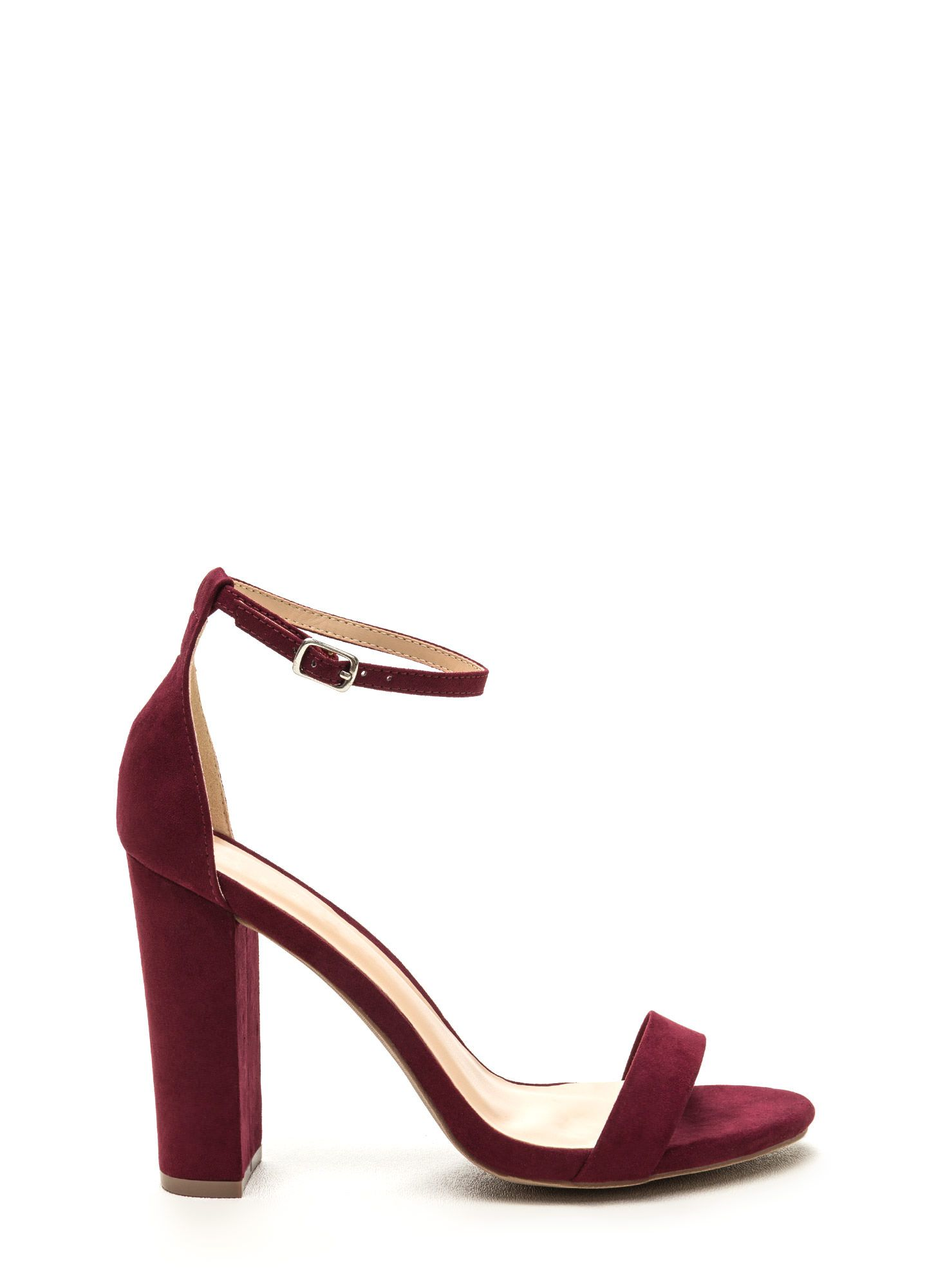 eaf97745c6 Pure  N Simple Faux Suede Chunky Heels BLUSH BURGUNDY - GoJane.com ...