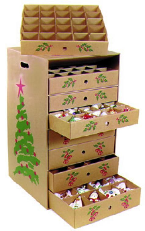Christmas ornament storage box Organize Pinterest Ornament